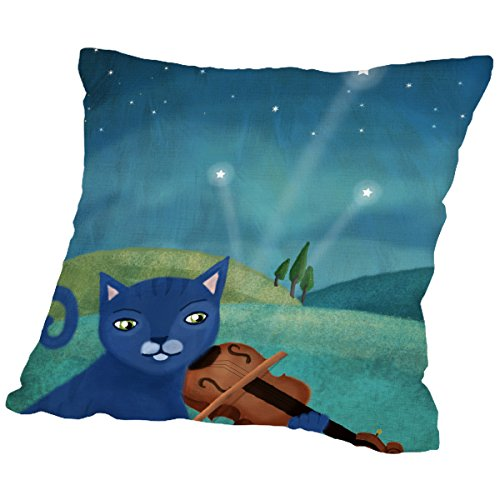 American Flat 'Cat and Violin' Pillow by Mia Charro, 16