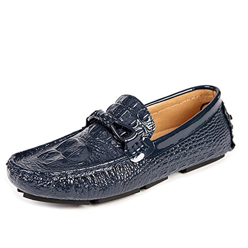 Luminosi Mocassini Mocassini Uomo On Mocassini Casual Footwear Oxford Driving Uomo Blue1 Barca Deck da Shoe Moda Scarpe Slip da da z0wx1t6