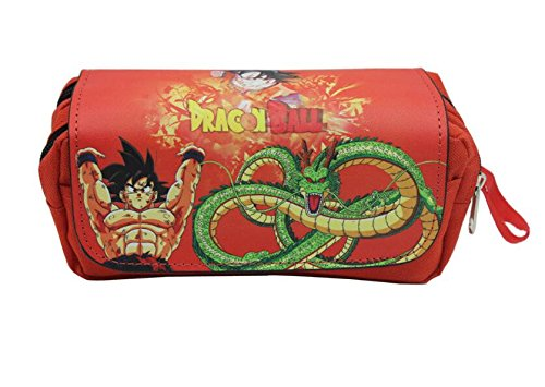 Thedmhom 1 Pcs Cool Cartoon Anime Dragon Waterproof Zippered Dragon Ball Pencilcase PU Leather Pencil Holder Wallet Stationery Pouch Bags Pen Box Office School Student Kids Birthday Novelty Gift