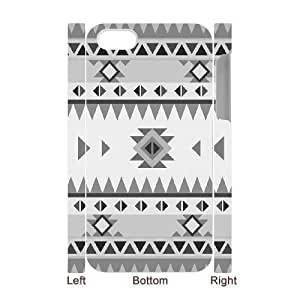3D Pharrel Pattern 1 Case For iPhone 4/4s Design Protective, Iphone 4s Case Luxury Protective Cute For Girls With White