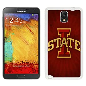 Fashionable And Unique Custom Designed With NCAA Big 12 Conference Big12 Football Iowa State Cyclones 3 Protective Cell Phone Hardshell Cover Case For Samsung Galaxy Note 3 N900A N900V N900P N900T White