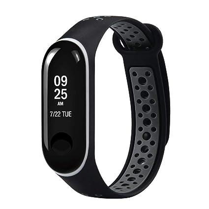 LANSKIRT Reemplazo Ventilador Correa Reloj de Pulsera Deportivo de muñeca Recambio Brazalete Extensibles Pulsera para Xiaomi