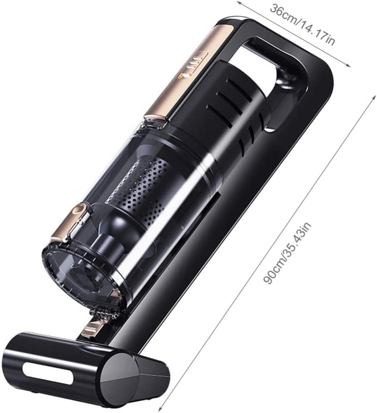 Aspirador mano potente con cable,Aspiradora Inalámbrica Recargable con luz LED,Portátil de bajo ruido Aspirador Mano Sin Cable,12V 140W para el coche casero del sofá para mascotas: Amazon.es: Coche y moto