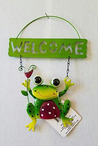 frog-welcome-sign-outdoor-indoor-garden-yard-multi-color-decor-brand-new