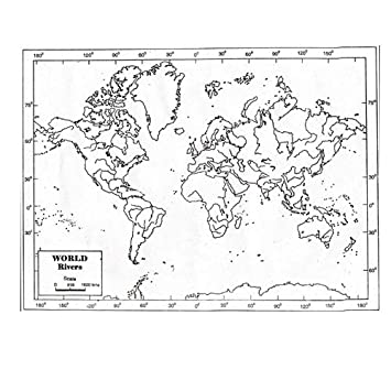 CRAFTWAFT RIVER MAP OF WORLD FOR MAP POINTING PACK OF 100 ...