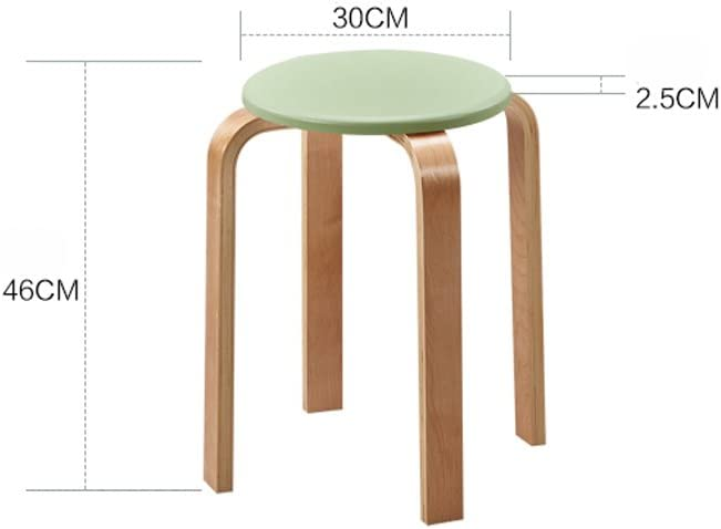 JT- Home fashion simple creative adult thick solid wood stool durable (Color : D) F