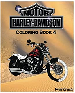 Amazon.com: Motor : Harley-Davidson Coloring Book 4: design coloring ...