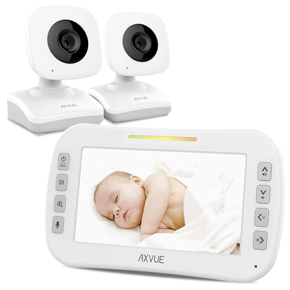 Video Baby Monitor with Two Cameras and 4.3'' Screen by Axvue, Model E612, Multifunctions