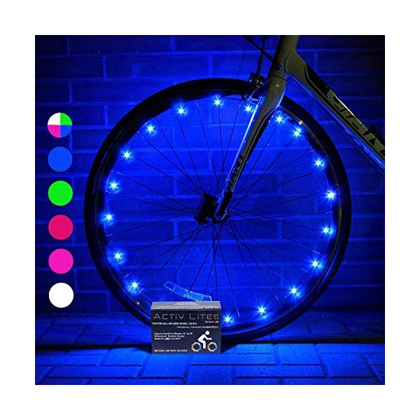 Activ Life 2-Tire Pack LED Bike Wheel Lights with Batteries Included! Get 100% Brighter and Visible from All Angles for Ultimate Safety & Style