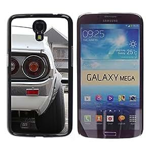 EJOY---Cubierta de la caja de protección la piel dura para el / Samsung Galaxy Mega 6.3 / --Blanca Datsun