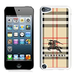 Hot Sale Ipod 5 Case,Burberry 3 White iPod Touch 5 Screen Phone Case Grace and Popular Design