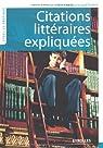 Citations littéraires expliquées par Le Boursicaud-Podetti