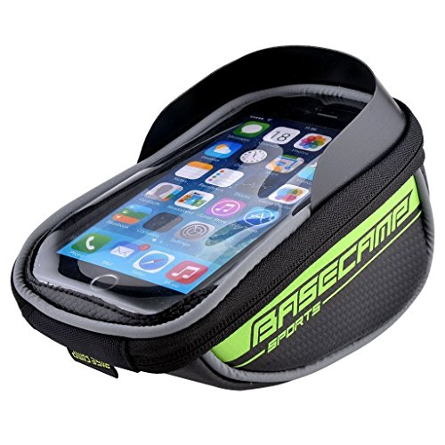allnice Bike Bag, Waterproof Touch Screen Bike Handlebar Bag Mountain Road MTB Bicycle Front Phone Frame Bag Holder for iPhone 7 Plus 6s 6 plus/Samsung Galaxy note 2 Cellphone Below 5.5Inch