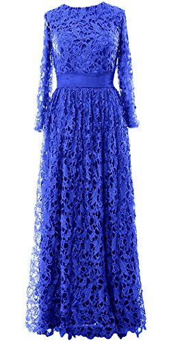 Mother Formal Gown MACloth Long Long Sleeve Royal Lace Women Blue of Evening Dress Bride PnXXxrzw