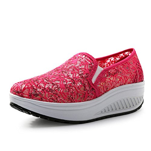 Mesh Platform Summer Rosa02 Sneaker Soles Trainers Shoes Fitness Women's Comfortable Rocker Outdoor Lightweight Breathable CnqtaFw6