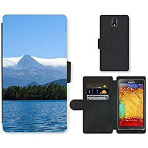 PU Cuir Flip Etui Portefeuille Coque Case Cover véritable Leather Housse Couvrir Couverture Fermeture Magnetique Silicone Support Carte Slots Protection Shell // F00000078 Peppara Peppara presa de Kerala // Samsung Galaxy Note 3 III N9000 N9002 N9005