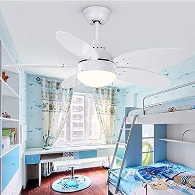 Ventilador de techo LED con control remoto Regulable Macarons ...
