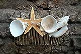 Seashell comb, Mermaid hair, starfish