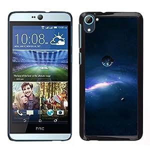 Correr más rápido que el de la sombra - Metal de aluminio y de plástico duro Caja del teléfono - Negro - HTC Desire D826