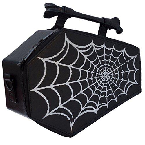 Kreepsville 666 Spiderweb Foil Coffin Bag Purse horror by kreepsville