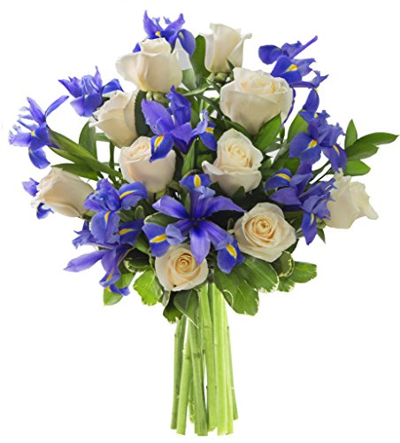 KaBloom Summer Collection: Perla Iris Mixed Bouquet of White Roses