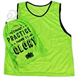 Pack of 6 Adult Size Sports Scrimmage Pinnies with Mesh Storage Bag by Crown Sporting Goods