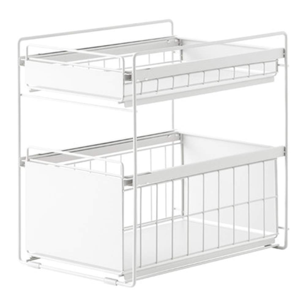 NNDQ Stackable Multi-Function Under Sink Organizer, 2 Tier Cabinet Organizer, Space Saving, Multi-Purpose Storage, BPA-Free, for Home, Office by NNDQ