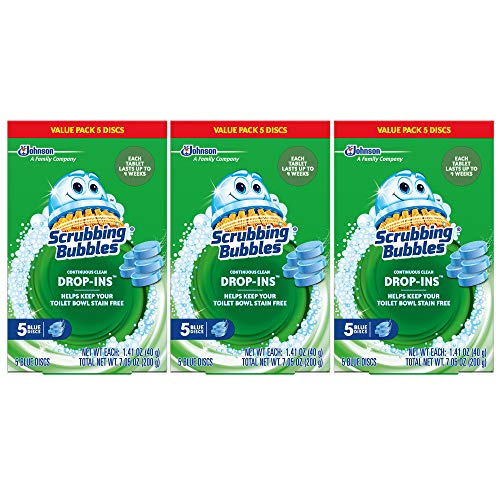 Scrubbing Bubbles Drop-Ins, 5 Count Tablets, 3 Pack (Best Toilet Bowl Cleaner Drop In)