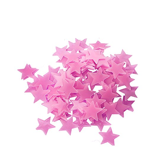 FLY SPRAY 100pcs Stars Glow in the Dark Luminous Fluorescent 3D Wall Stickers Decal Baby Kids Bedroom Ceiling Home Decor
