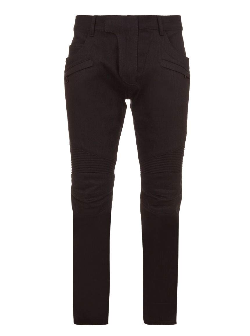 999ec0ab035 Balmain Men's POHT551D204176 Black Black Black Cotton Pants c617e3 ...