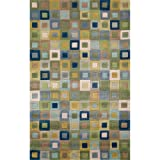 Liora Manne Amalfi Square Rug, 24 by 36-Inch, Ocean Review
