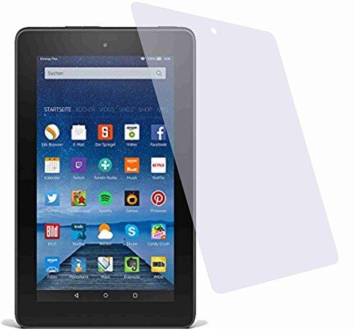 4ProTec I 2x Crystal clear klar Schutzfolie für Amazon Fire Tablet 17,7 cm (7 Zoll) 5. Generation Modell 2015 Premium…