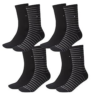 TOMMY HILFIGER Women Socks, Small Stripe, Stockings, uni/striped, 4 Pack