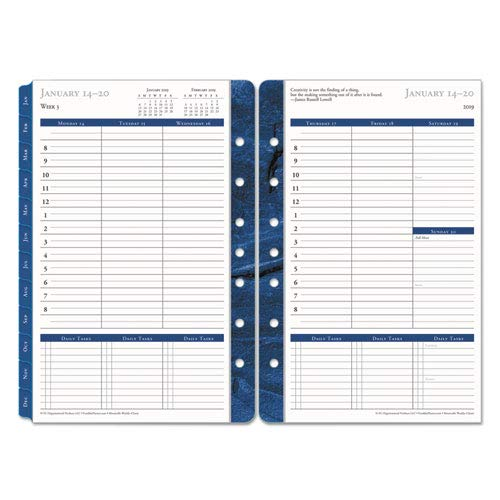 - FranklinCovey Monticello Dated Weekly/Monthly Planner Refill, 5 1/2 x 8 1/2, 2019