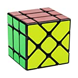 D-FantiX Yongjun Yileng Cube Fisher Cube 3x3 Speed Cube Puzzle Black (Updated Version)