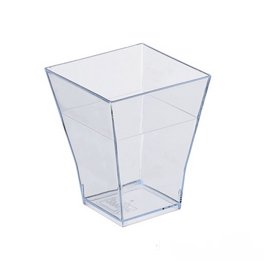 PackNWood 209MBTAITI Taiti Clear Square Cup - 2 oz - 1.7 x 1.7 x 2.1'' - 600 per case by PacknWood