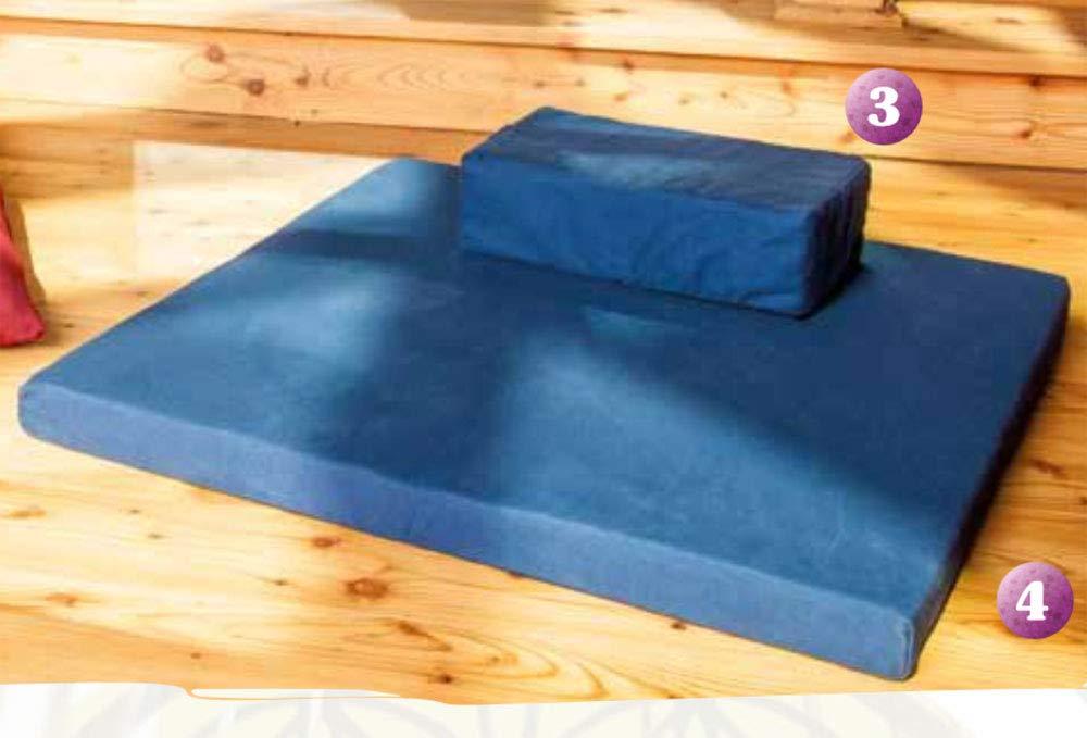Berk Meditationskissen dunkelbau + Meditationsmatte mit Kokoosnuss Faser