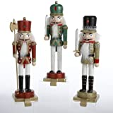 Kurt Adler Wooden Nutcracker Stocking Hanger Set by Kurt Adler