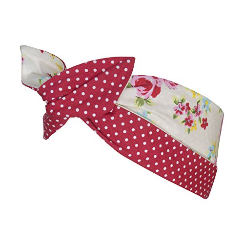 Ladies Rockabilly Style 1950s Hairband - Floral Crea - Floral Cream / Pink (50s Hair Styles)