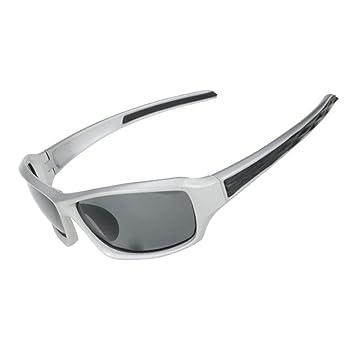 Nalkusxi Gafas de Sol polarizadas para Pescar Conducir Golf Bicicletas Ciclismo Correr Superlight Frame (Color