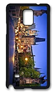 MOKSHOP Adorable charles bridge prague Hard Case Protective Shell Cell Phone Cover For Samsung Galaxy Note 4 - PCB by lolosakes