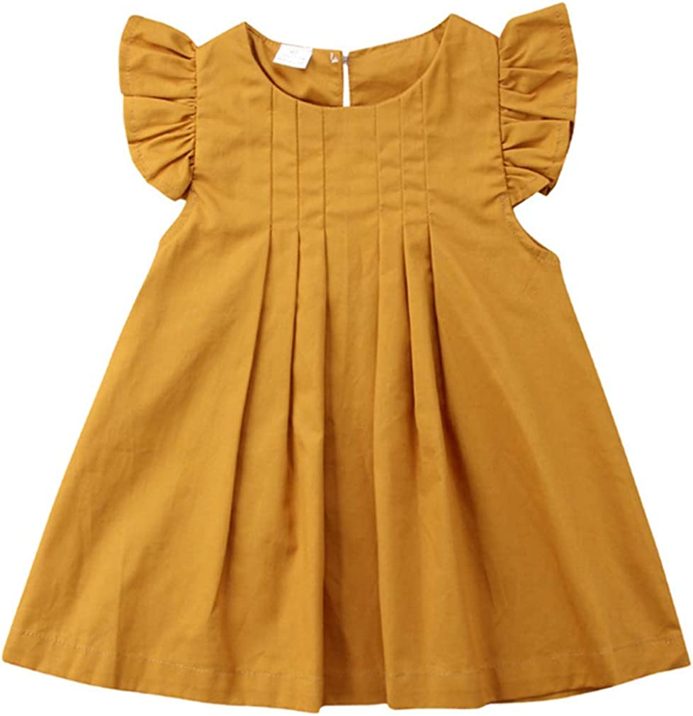 1940s Children's Clothing: Girls, Boys, Baby, Toddler Niyage Toddler Baby Girls Cotton Tunic Dress Swing Casual Sundress Age 1-5 $14.90 AT vintagedancer.com