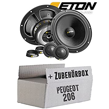 Peugeot 206 - Eton Pro 170.2 - 16 cm Sistema - Compostador OHG -: Amazon.es: Electrónica