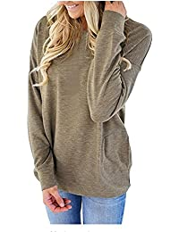 Loose Tops Sweaters For Women Batwing Sleeve Casual...