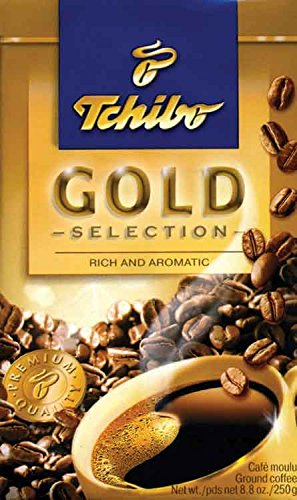 Tchibo Gold Selection Ground Coffee, 8.8-Ounce Packages (Pack of 4)