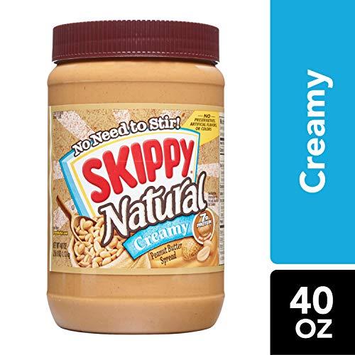 SKIPPY Natural Creamy Peanut Butter Spread, 40 oz (Natural Peanut Butter Skippy)
