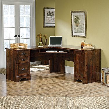 Sauder 420474 Harbor View Corner Computer Desk, L: 66.14