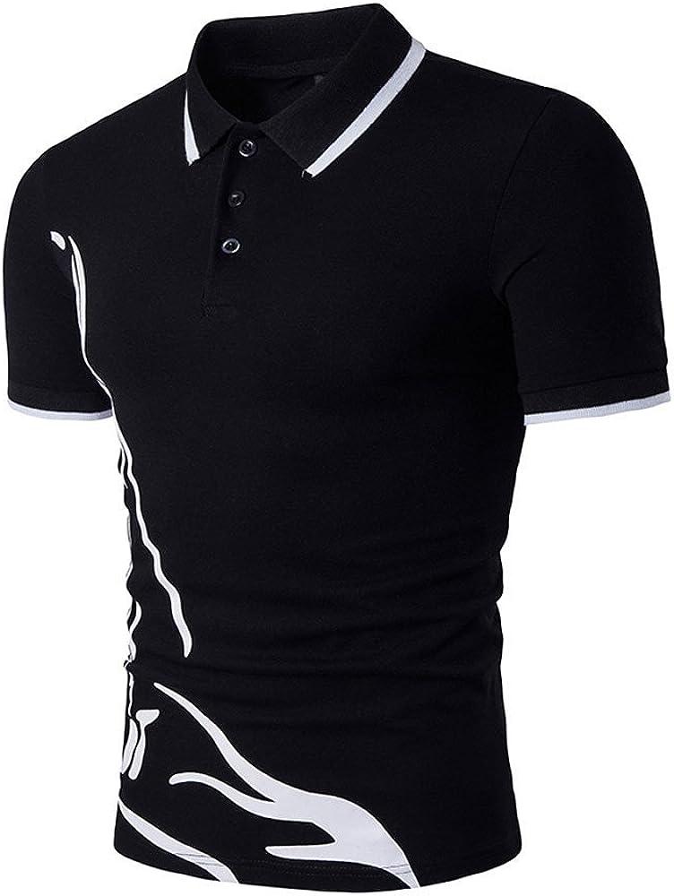 Hellosay Mens Slim Sports Short Sleeve Casual Shirt T-Shirts