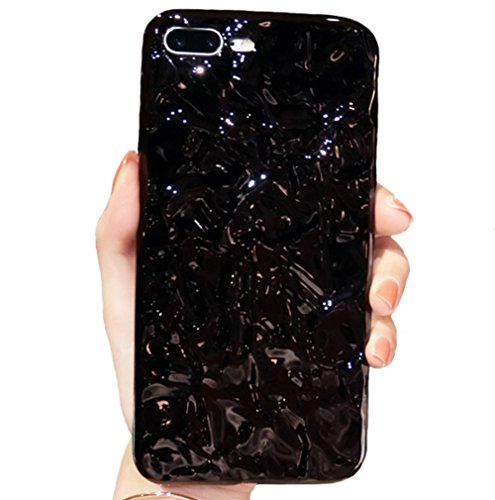 ase 3D Glitter Bling Tinfoil Air Prism Stylish Slim Soft Flexible Jewel-Like Textured Full Protective TPU Case Cover for iPhone 8/7(Black, iPhone 8/7) ()