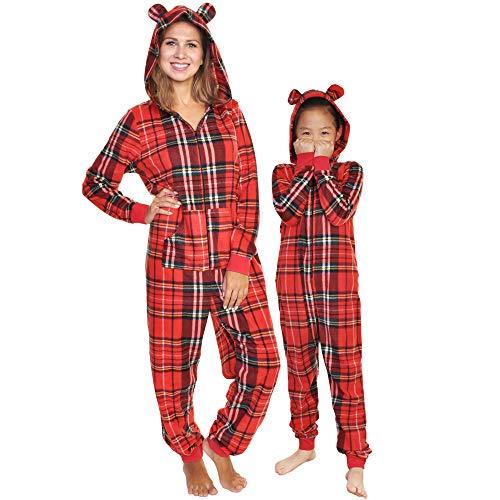 Angelina Women's Fleece Novelty One-Piece Hooded Pajamas, ()